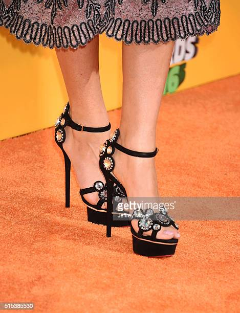 Actress/singer Zendaya shoe detail at Nickelodeon's 2016 Kids' Choice Awards at The Forum on March 12 2016 in Inglewood California