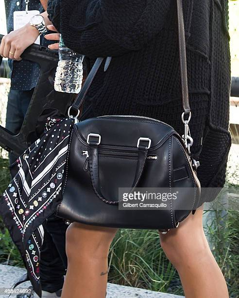Actress/singer Zoe Kravitz handbag detail is seen arriving at Coach fashion show during Spring 2016 New York Fashion Week on September 15 2015 in New...