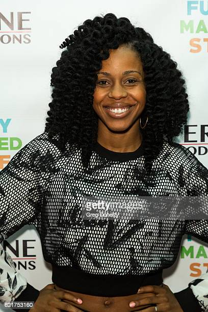 Actress/Singer/Dancer Danielle Moné Truitt arrives for the Screening Of Perrine Productions' 'Funny Married Stuff' at the ACME Comedy Theatre on...