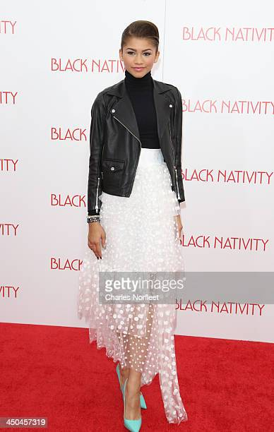 Actress/singer/dancer Zendaya attends theBlack Nativity premiere at The Apollo Theater on November 18 2013 in New York City