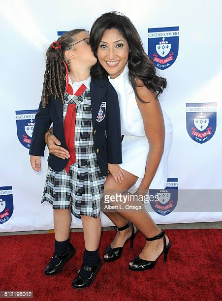 Actress/singer/host Bettina Bush and daughter Cassie Holzman at the Opening and Dedication Of The Charles V Bush Library held at Carden Conejo School...