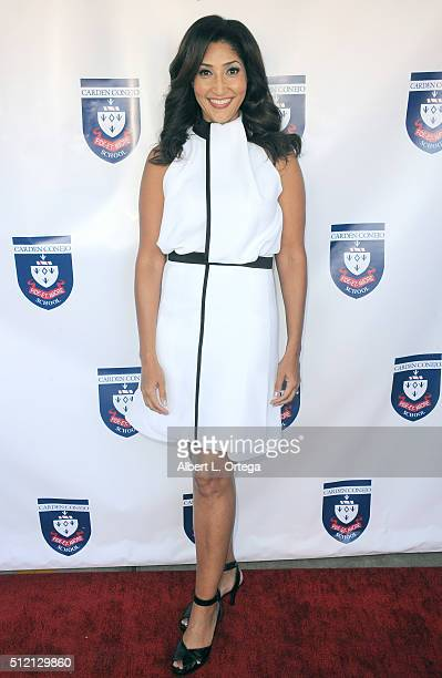 Actress/singer/host Bettina Bush attends the opening and dedication of the Charles V Bush Library held at Carden Conejo School on February 24 2016 in...