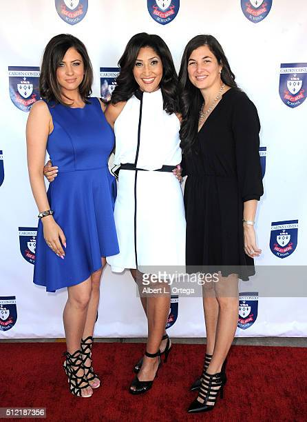 Actress/singer/host Bettina Bush with guests at the opening and dedication of The Charles V Bush Library held at Carden Conejo School on February 24...