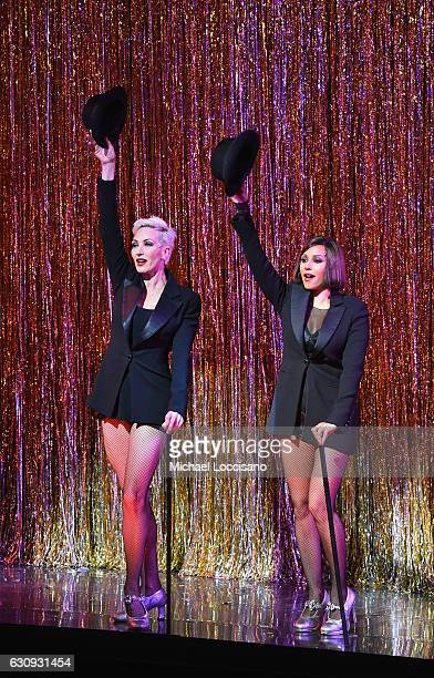 Actress/Singers AmraFaye Wright and Mel B perform in Broadway's 'Chicago' at Ambassador Theatre on January 3 2017 in New York City She made her debut...