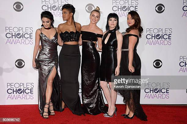 Actresssingers Vanessa Hudgens Keke Palmer Julianne Hough Carly Rae Jepsen and Kether Donohue attend the People's Choice Awards 2016 at Microsoft...