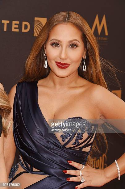 Actress/singersongwriter Adrienne Bailon attends the 2016 Daytime Emmy Awards Arrivals at Westin Bonaventure Hotel on May 1 2016 in Los Angeles...