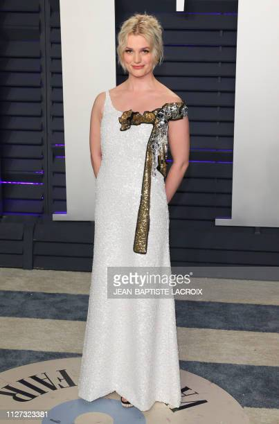 Actress/singer/songwriter Alison Sudol attends the 2019 Vanity Fair Oscar Party following the 91st Academy Awards at The Wallis Annenberg Center for...
