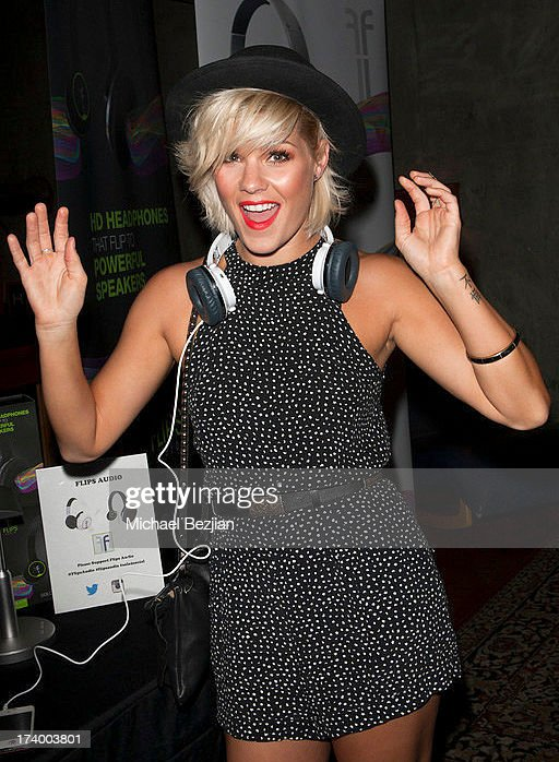 Actress/singer/television host Kimberly Caldwell attends Flips Audio Presents, Matt Leinart Foundation Seventh Annual Celebrity Bowl at Lucky Strikes on July 18, 2013 in Hollywood, California.