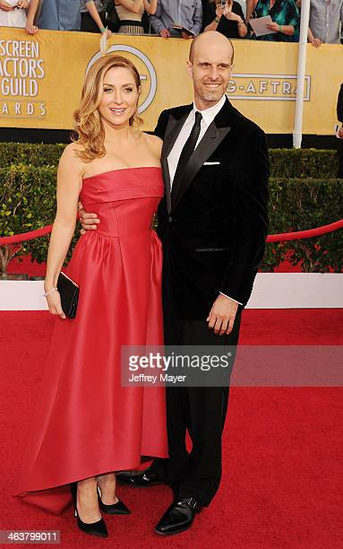 Actress/Social Media Ambassador Sasha Alexander and producer Edoardo Ponti arrive at the 20th Annual Screen Actors Guild Awards at The Shrine...