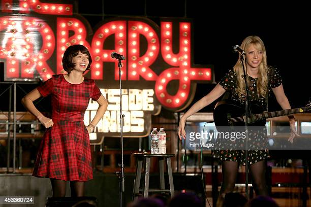 Actresssongwriters Kate Micucci and Riki Lindhome of the comedy folk duo Garfunkel and Oates perform at The Barbary Stage during day 1 of the 2014...