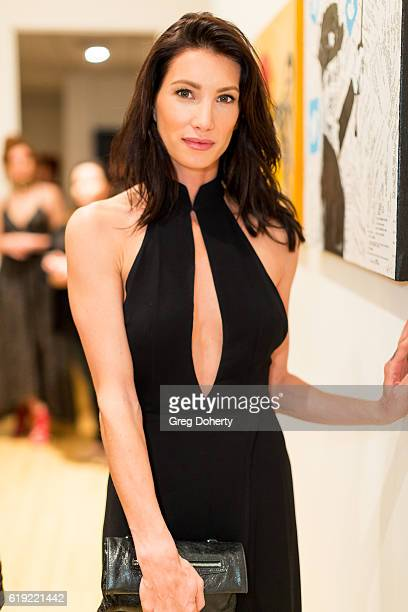 ActressSsculptor Model Sonni Pacheco attends the Gallery Opening Of 'Social Distortion A Capsule Collection Of Fine Art By Billy Morrison' at Art On...