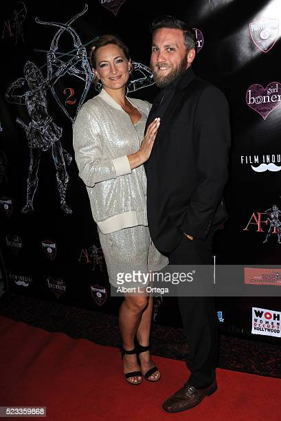 Actress/stuntwoman Zoe Bell and film maker Jacob Horn arrives at the 2nd Annual Artemis Film Festival Red Carpet Opening Night/Awards Presentation...