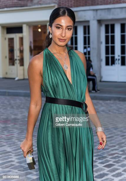 Actress/Stylist Nausheen Shah is seen arriving to the BVLGARI world premiere screening of 'The Conductor' and 'The Litas' during the 2018 Tribeca...
