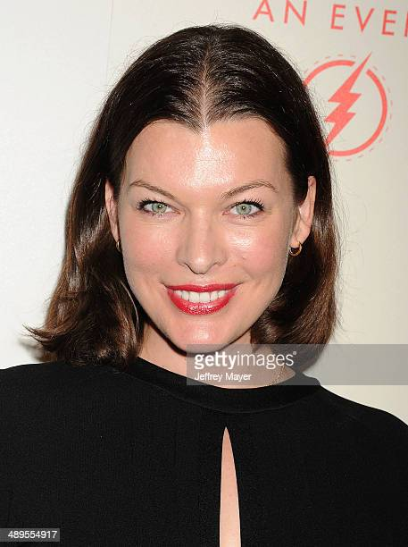 Actress/supermodel/designer/singer Milla Jovovich arrives at the 2014 An Evening With Women Benefiting LA Gay Lesbian Center at the Beverly Hilton...