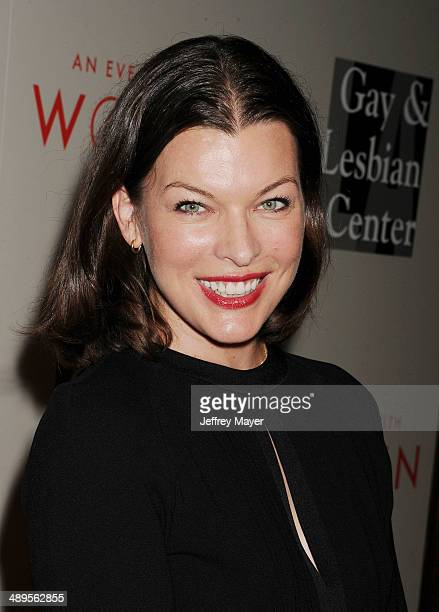 Actress/supermodel/designer/singer Milla Jovovich arrives at the 2014 'An Evening With Women' Benefiting LA Gay Lesbian Center at the Beverly Hilton...