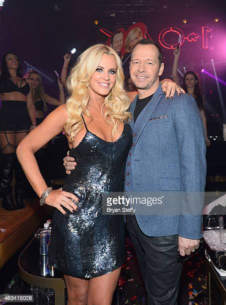 Actress/television host Jenny McCarthy and actor/singer Donnie Wahlberg attend 1 Oak Nightclub at The Mirage Hotel Casino on February 13 2015 in Las...