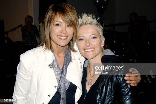 Actress/TV host Honey Labrador and actress Nikki Flux attend Nicky Trebek's New Year's Eve performance at United Methodist Church on December 31 2011...