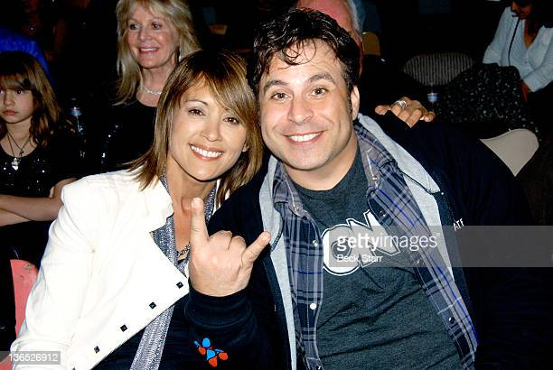 Actress/TV host Honey Labrador and comedian Ant Comic attend Nicky Trebek's New Year's Eve performance at United Methodist Church on December 31 2011...