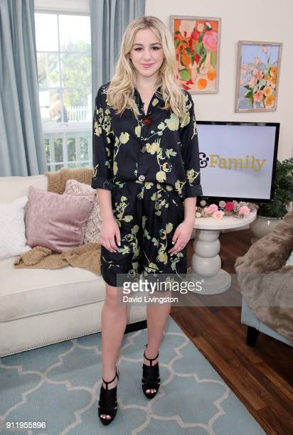 Actress/TV personality Chloe Lukasiak visits Hallmark's 'Home Family' at Universal Studios Hollywood on January 29 2018 in Universal City California
