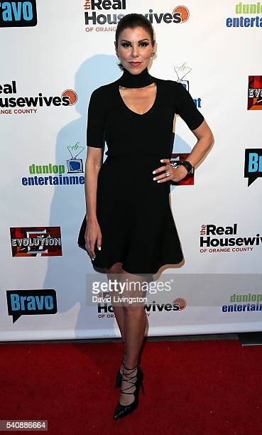Actress/TV personality Heather Dubrow attends the premiere party for Bravo's The Real Housewives of Orange County 10 Year Celebration at Boulevard3...