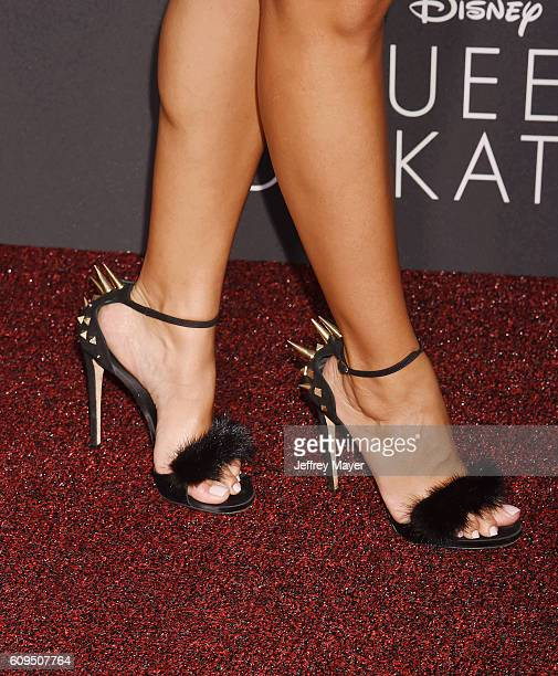 Actress/TV personality Julissa Bermudez shoe detail at the premiere of Disney's 'Queen Of Katwe' at the El Capitan Theatre on September 20 2016 in...