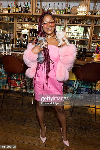 Actress/TV personality Keke Palmer attends 'ShoeDazzle x Keke Palmer Kicking it with Keke Ladies who lunch' at Estrella on January 11 2017 in West...