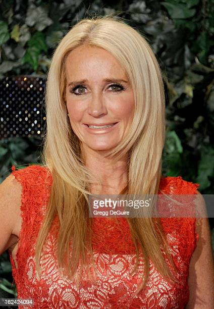 Actress/TV personality Kim Richards arrives at the QVC Red Carpet Style party at Four Seasons Hotel Los Angeles at Beverly Hills on February 22 2013...