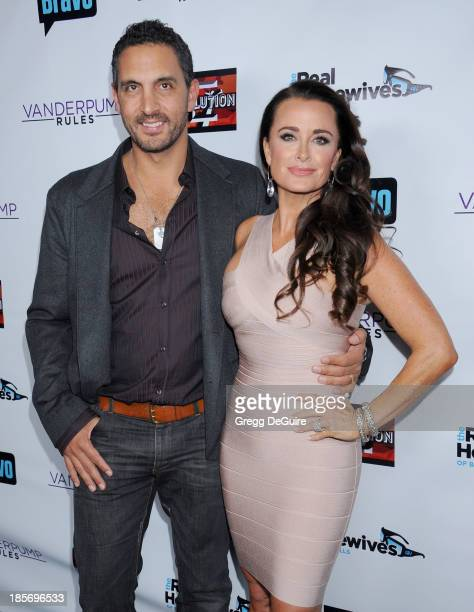 Actress/TV personality Kyle Richards and husband Mauricio Umansky arrive at The Real Housewives Of Beverly Hills And Vanderpump Rules premiere party...