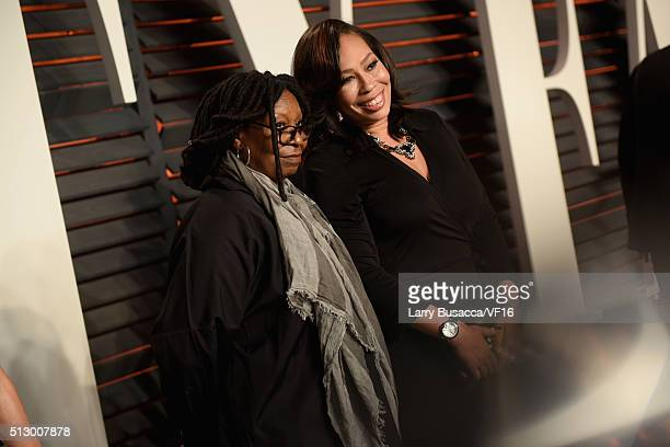 Actress/TV personality Whoopi Goldberg and Alex Martin attend the 2016 Vanity Fair Oscar Party Hosted By Graydon Carter at the Wallis Annenberg...