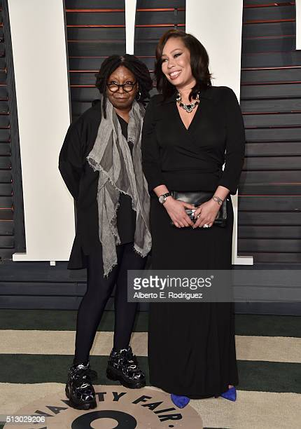 Actress/TV personality Whoopi Goldberg and Alex Martin attend the 2016 Vanity Fair Oscar Party hosted By Graydon Carter at Wallis Annenberg Center...