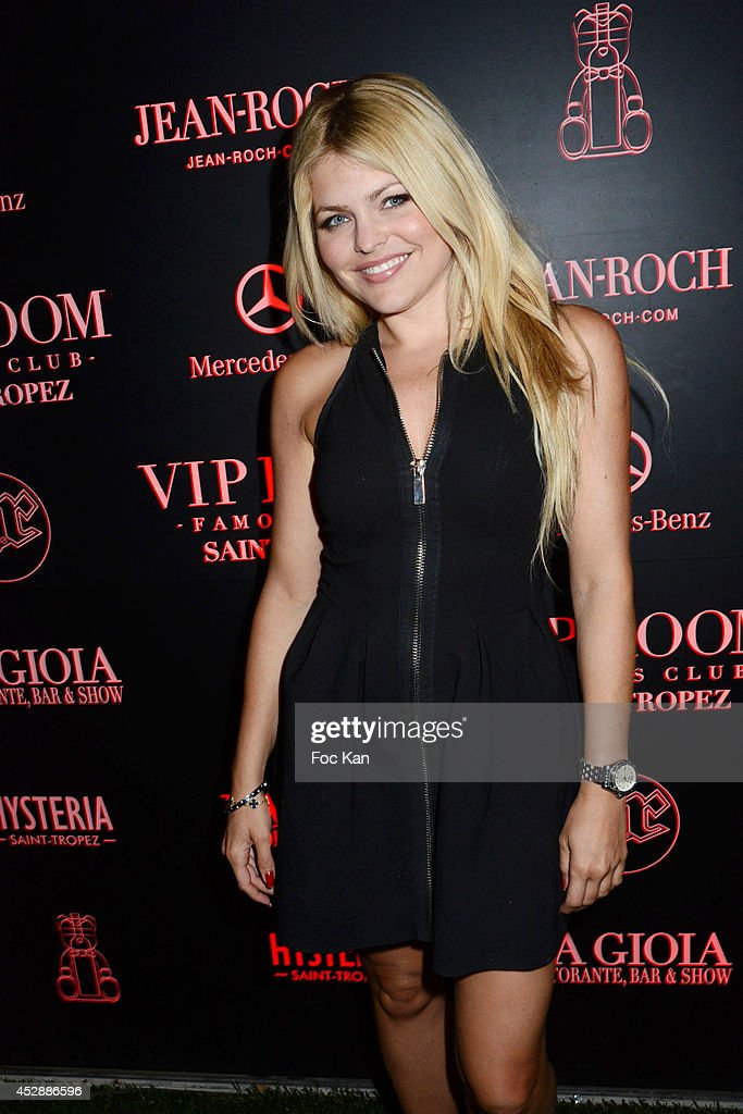 Actress/TV presenter Celyne Durand attends the DJ Canitrot Party VIP Room Saint Tropez July 28, 2014 in Saint Tropez, France.