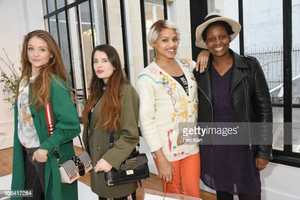 Actress/TV presenter Cyrielle Joelle bloggers Elvine Raimondi from isulablue Kevhoney Scarlett from a week a style and Elisa from Les Bons Tuyaux...