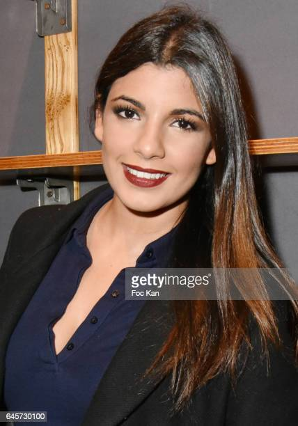 Actress/TV presenter Donia Eden attends the Urban Anthology and Design Preview Cocktail at Artcurial on February 26 2017 in Paris France