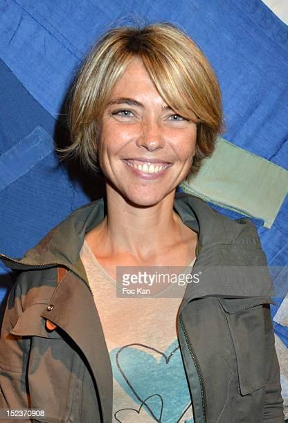 Actress/TV presenter Nathalie Vincent attends 'En Attendant Que les Beaux Jours Reviennent' Public Reading Cocktail at Espace Des Femmes September 19...