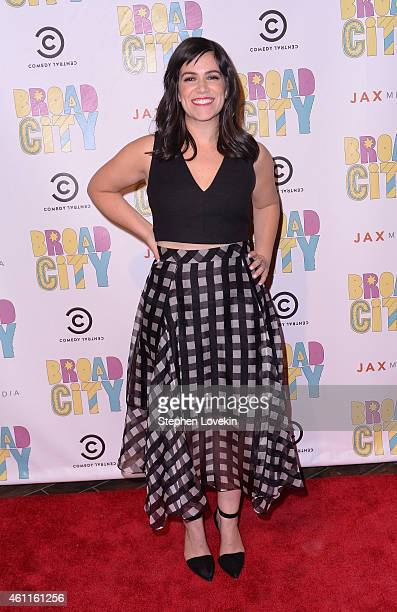 Actress/writer Abbi Jacobson attends The Broad City Season 2 Premiere Party at 26 Bridge Street on January 7 2015 in New York City