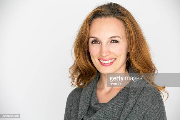 Actress/writer Allison Marie Volk poses at private photo shoot on August 11 2015 in Los Angeles California