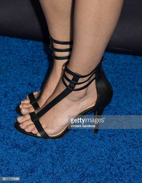Actress/writer Anna Akana shoe detail attends the Asian American Awards Unforgettable Gala at The Beverly Hilton Hotel on December 12 2015 in Beverly...