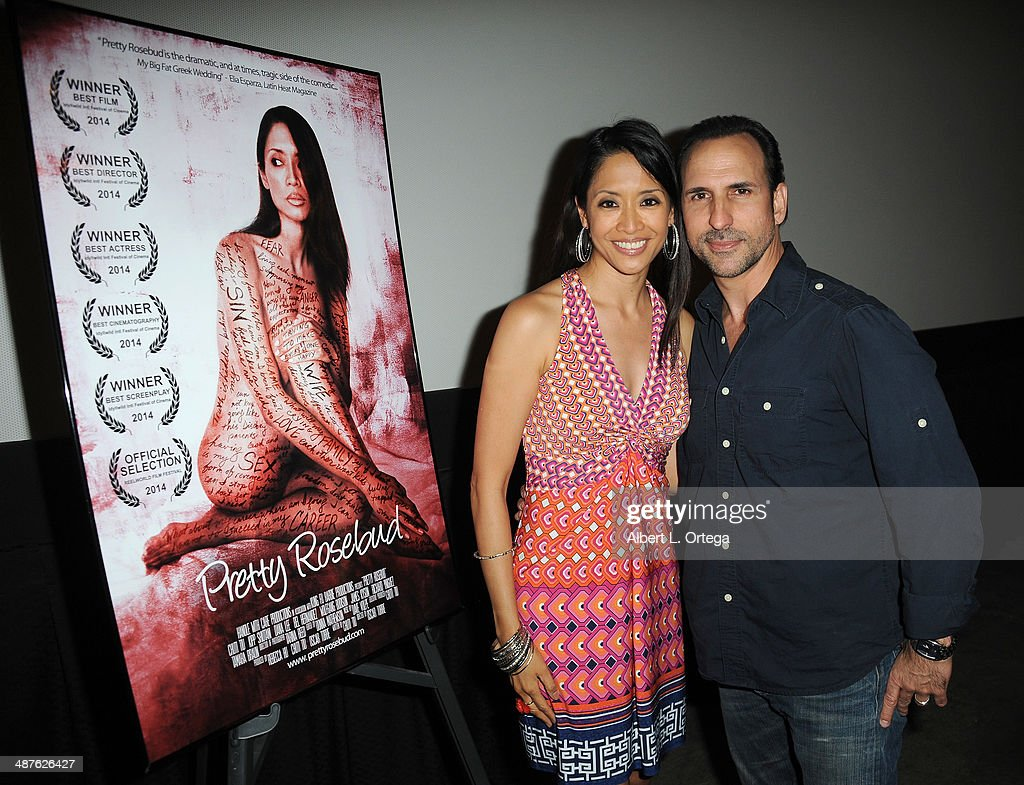 Actress/writer Chuti Tiu and director/actor Oscar Torre attend the Screening Of 'Pretty Rosebud' held at Laemmle NoHo 7 on April 30, 2014 in North Hollywood, California.
