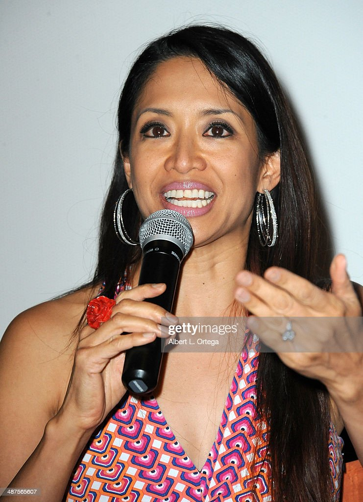 Actress/writer Chuti Tiu arrives for the screening of 'Pretty Rosebud' held at Laemmle NoHo 7 on April 30, 2014 in North Hollywood, California.