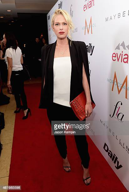 Actress/Writer Erin Foster attends The DAILY FRONT ROW Fashion Los Angeles Awards Show at Sunset Tower on January 22 2015 in West Hollywood California