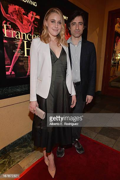 Actress/writer Greta Gerwig and director/writer Noah Baumbach attend a screening of IFC Films' 'Frances Ha' at the Vista Theatre on May 1 2013 in Los...
