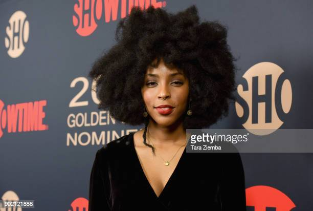 Actress/writer Jessica Williams attends the Showtime Golden Globe Nominees Celebration at Sunset Tower on January 6 2018 in Los Angeles California