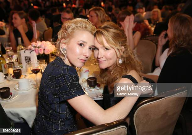Actress/writer Madelyn Deutch and director Lea Thompson wearing Max Mara attend the Women In Film 2017 Crystal Lucy Awards presented By Max Mara and...
