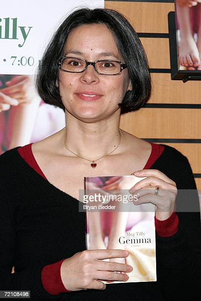 Actress/writer Meg Tilly appears at Barnes Noble to read from her book Gemma on October 6 2006 in New York City