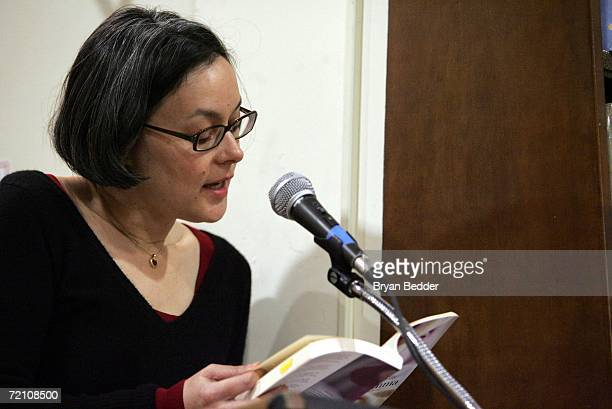 Actress/writer Meg Tilly reads from her book Gemma during a appearence at Barnes Noble on October 6 2006 in New York City