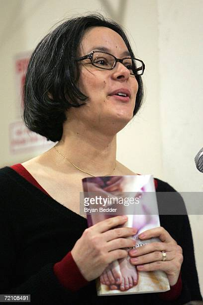 Actress/writer Meg Tilly speaks at a reading of her book Gemma during a appearence at Barnes Noble on October 6 2006 in New York City