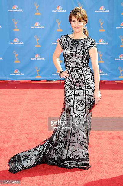 Actress/writer Tina Fey arrives at the 62nd Annual Primetime Emmy Awards held at the Nokia Theatre LA Live on August 29 2010 in Los Angeles California