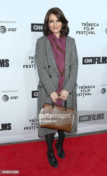 Actress/writer Tina Fey attends the 2018 Tribeca Film Festival opening night premiere of Love Gilda at Beacon Theatre on April 18 2018 in New York...