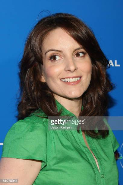 Actress/writer Tina Fey attends the NBC Universal Experience at Rockefeller Center on May 12 2008 in New York City