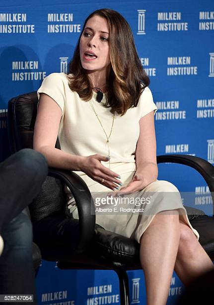 Actress/writer/cofounder Hilarity for Charity Lauren Miller Rogen speaks onstage at the 2016 Milken Institute Global Conference on May 04 2016 in...